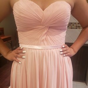 Sheer dress blush color sz 12 gown offers accepted